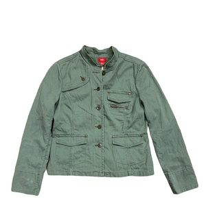 Mossimo Green Casual Jacket Size L
